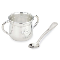 ABBEY Double-Handle Cup & Feeding Spoon Set