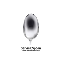 Boutonniere Serving Spoon