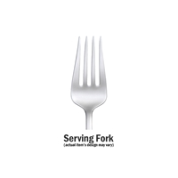 Oneida Calm Serving Fork