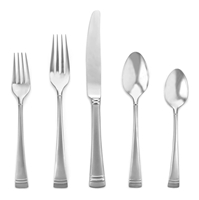 FEDERAL PLATINUM FROSTED 5pc Place Setting
