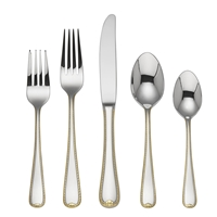 Gorham Golden Ribbon Edge 5pc Place Setting