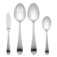 Reed & Barton Hammered Antique 4pc Hostess Set