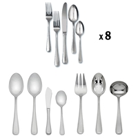 Ribbon Edge Frosted 47pc Set